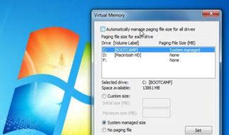 """Что делать, если появляется сообщение: """"Слишком мало виртуальной памяти"""""""
