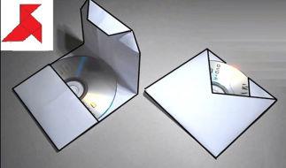 Как сделать конверт для диска из листа A4