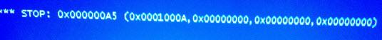 Синий экран STOP: 0x000000A5