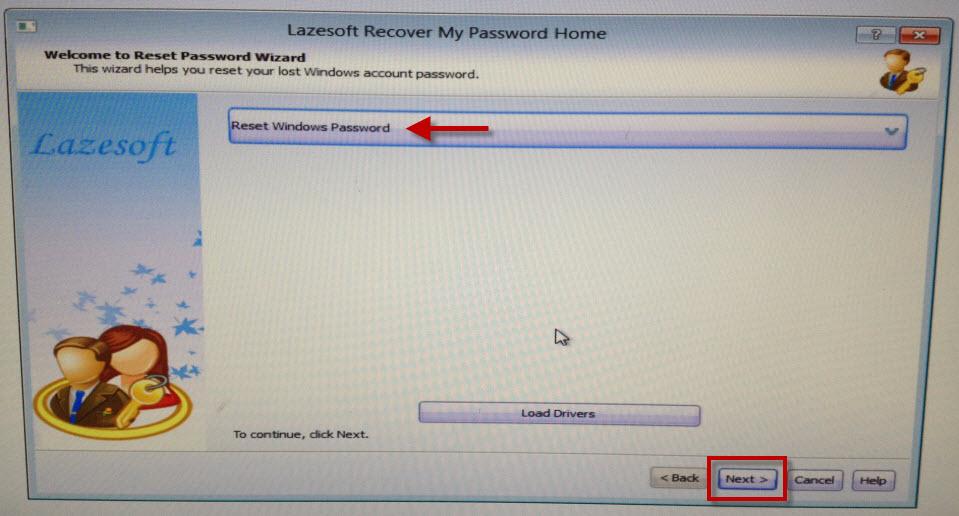 сбросить пароль администратора
