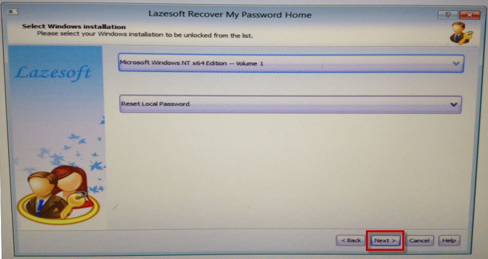 Password recovery tool word