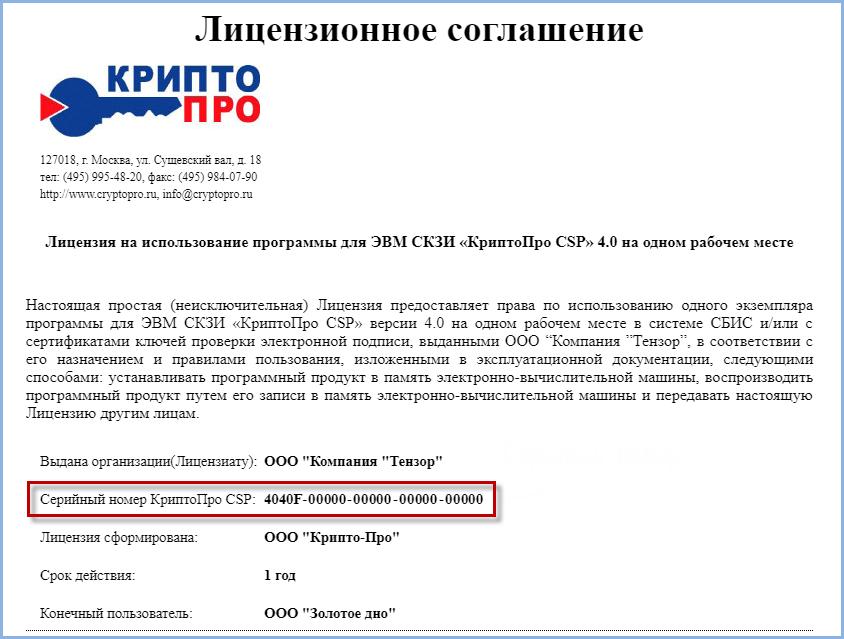 лицензия на крипто про