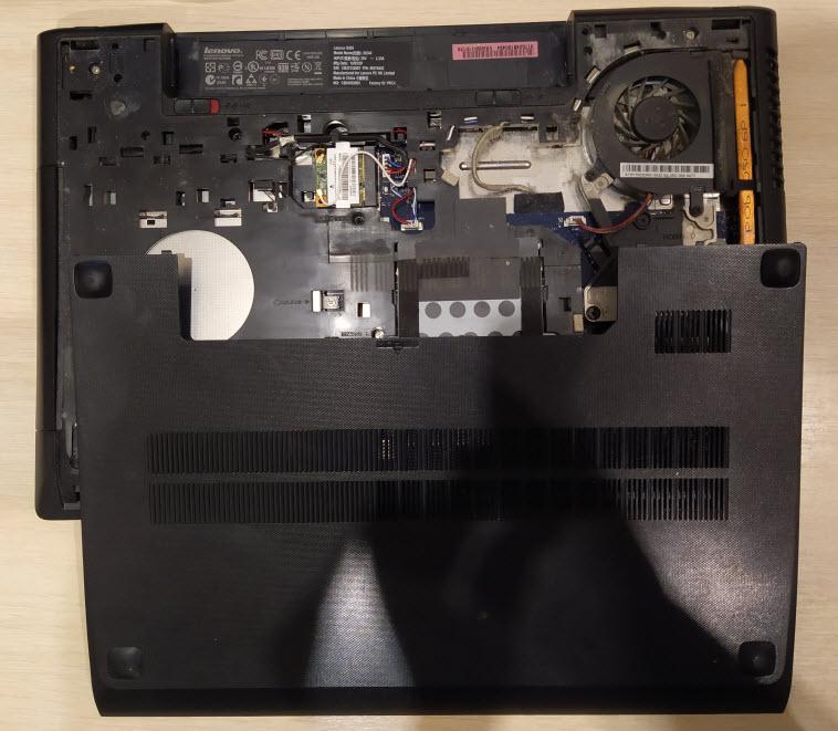 Замена жесткого диска в ноутбуке Lenovo