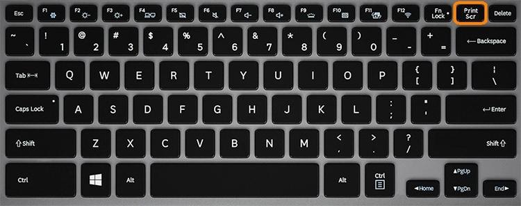 Кнопка Print Scr на клавиатуре ноутбука