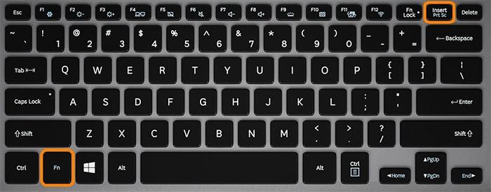 Клавиши для создания скрина на ноутбуке
