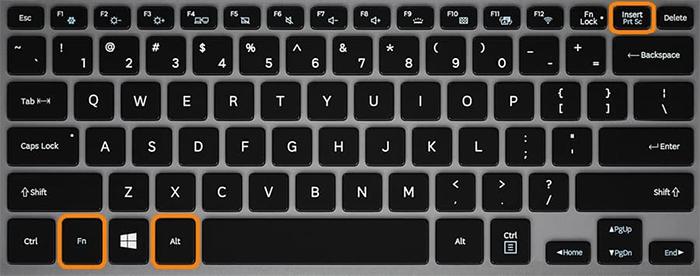 Комбинация клавиш для создания скрина на ноуте