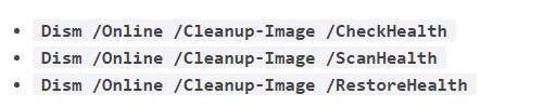 Набор команд для проверки системных файлов